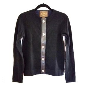 ☆Coach Cashmere Wool Cardigan Sweater Turn Lock XS